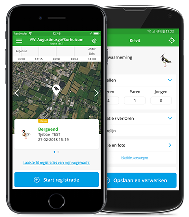 BFVW Fugelwacht app voor iPhone iOS en Android